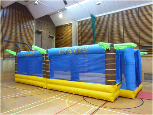 Inflatable bungee football game hire suitable for inflatable activity days
