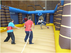 Inflatable Bungee football game for hire