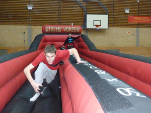 Inflatable Bungee Run and Bungee Basketball Game for hire